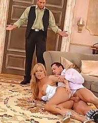 Jessica Moore in threesome